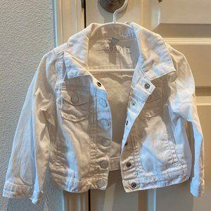 Baby Gap 1969 white jean jacket sz 3 toddler